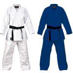 Buy cheap White / Blue brazilian jiu jitsu clothing BJJ Kimono with EVA Foam Collar from wholesalers