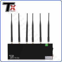 Buy cheap 6 Antennas Mobile Phone Signal Jammer High Power For Libraries / Museums from wholesalers