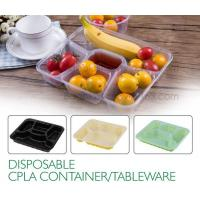 Wholesale Disposable corn starch plates biodegradable corn starch food container, Disposable PLA Serving Divided Lunch Tray from china suppliers