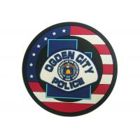 Buy cheap Ogden City Police Promotion 2D Custom Plastic Coasters Silicon from wholesalers