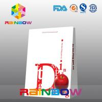 Buy cheap White Customized Paper Bags Flat Bottom Cardboard Logo Paper Shopping Bag from wholesalers