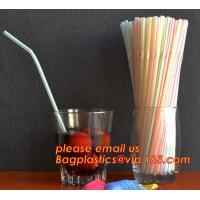 Buy cheap PP plastic red and white stripe straight drinking straw,manufacturer wholesale cheap custom disposable clear PP plastic from wholesalers