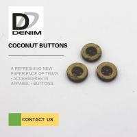 Buy cheap 16L 4H Coloured Wooden Buttons , Large Coconut Buttons For Garments from wholesalers