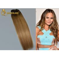 Buy cheap Remy Hair Extensions Balayage Hair Color Caramel Brown Hair Bleached from wholesalers
