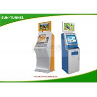China Currency Free Standing Bank Self Service Kiosk , Exchange Check In Kiosk Touch Screen on sale