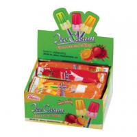 Buy cheap Children Fruit Hard Candy Lollipops Ice Cream With Fluorescence 8g * 30pcs product