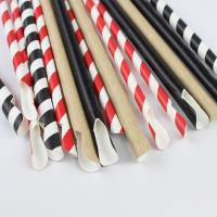 Buy cheap Commercial Decorative Paper Drinking Straws Sturdy Thick 7.75 Inches Long from wholesalers