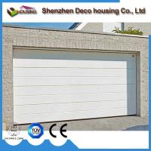 China Automatic folding garage door remote control galvanized steel polyurethane three layer sandwich garage doors on sale