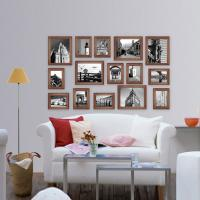 Buy cheap new design Wood Photo Wall Wooden photo frame photo wall for home decoration from wholesalers