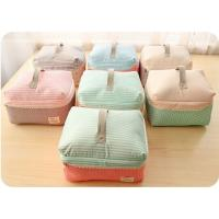 Wholesale Striped Professional Makeup Cases / Foldable Multicolor Nylon Train Case Makeup Bag from china suppliers