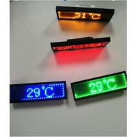 Buy cheap RGB Programmable Scrolling LED Sign , Rechargeable USB Flashing Electronic LED Name Badge from wholesalers