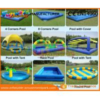 Buy cheap Heat Sealed Inflatable Swimming Pool Wet Deep Rectangle Pool 0.9mm PVC Tarpaulin from wholesalers