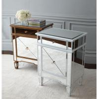 Buy cheap Popular Silver Mirrored Bedside Tables, Durable Mirrored Dresser And Nightstand Set from wholesalers