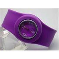 Buy cheap OEM Yellow / Purple Silicone Slap Bracelet Watch With Customized Logos from wholesalers