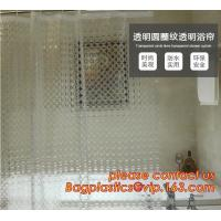 Buy cheap TRANSPARENT CIRCLE LINES, TRANSPARENT , polyester shower curtain and matching mat waterproof custom bath bathroom shower from wholesalers
