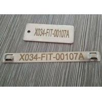 China Antirust Cable Identification Tags , Stainless Steel Cable Labels With Lasering Numbers on sale