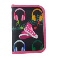 Buy cheap Pink Pencil Case Pattern Music Shoes / Pencil Zipper Pouch With Stationery from wholesalers
