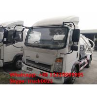 Buy cheap 2016 hot sale 4*2 HOWO 5000L sewage suction truck, factory direct sale HOWO brand 5cubic meters vacuum suction truck from wholesalers