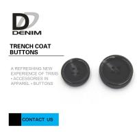 Buy cheap 48L Trench Coat Buttons Black Large Buttons In Bulk Good Wear Resistance from wholesalers