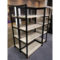 Buy cheap Anti Rust Free Standing Shop Shelves , Wood Shelves With Metal Frame from wholesalers