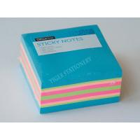 Quality Three Neon color sticky note cube sticky memo pad  3X3 inc for office assistant school business famaily for sale