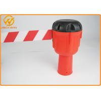 Buy cheap Road Traffic Management Cones Topper 9 Meters White / Red Plastic Retractable Belt from wholesalers