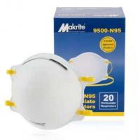 Buy cheap White N95 Ffp1 Ffp2 Ffp2 Face Mask / 4 Ply Dust Mask Cup Shape Available from wholesalers