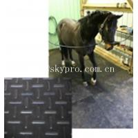 Buy cheap Black horse / cow  rubber stable matting variable textures on top 3mm thick min. from wholesalers