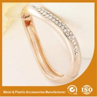Wholesale Gift / Decoration Zircon Gold Metal Bangles , Gold Bracelets Bangle from china suppliers