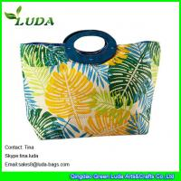Buy cheap LUDA unique purses paper straw stylish handbags wooden handles tote beach bag from wholesalers
