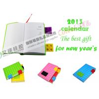 Wholesale Yellow / Pink Round Shape Calendar Silicone Notebook Can Pass FDA and LFGB Standard from china suppliers