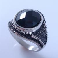 Buy cheap HBNR02246 Fashion Stainless steel Ring Gemstone Ring Agate Ring Championship Ring from wholesalers