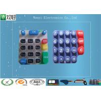Buy cheap Custom Silicone Rubber Keypads For 3C Items 60 Degree Silkscreen Print High Gloss from wholesalers