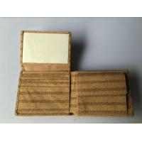 Wholesale New style Bifold men gender slim cork wallet 11x9cm with pocket coin and card slot from china suppliers