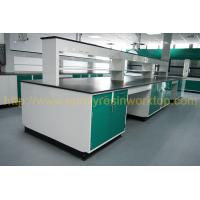 Glare surface school chemical lab Island bench solid anti high temperature Manufactures