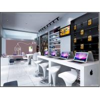 Modern style Apple Store and service center by white slat wall racks and fiber glass counters with leisure chair Manufactures
