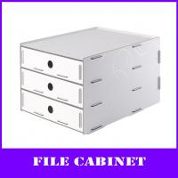 Buy cheap 3-layers desktop pp A4 file cabinet from wholesalers