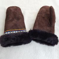 Buy cheap Ski Leather Mitten Gloves Mitten Top Layer Suede Touch Screen Customized Size from wholesalers