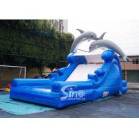 Buy cheap 5m high commercial grade Inflatable Backyard Water Slide with Double Dolphinfor kids fun from wholesalers