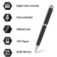 Buy cheap Digital Audio Voice Activated Recorder Pen / Ballpoint Pen / Dictaphone / MP3 Player / One Button Recording from wholesalers