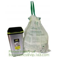 Buy cheap Drawstring Drawtape liner sacks, sachets, closure,shopping biodegradable compostable clear plastic grocery shopping bag, from wholesalers