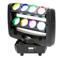 Black Case LED Double Row 8-eyes 4-In-1 RGBW  Unlimited Spider Moving Head Beam Light Manufactures