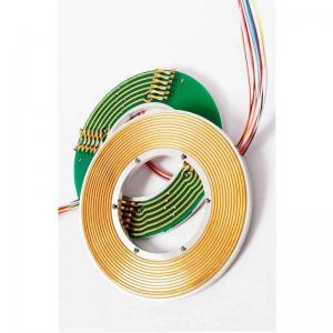 Electrical Slip Ring Part Pancake Slipring 4 Circuits Signal And Power Transmitting In Rotary Door Manufactures