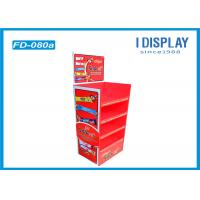 Chocolate Floor Cardboard Poster Display Stands With Easy Assembly