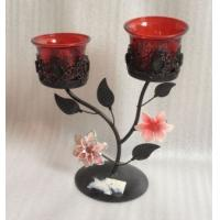 Buy cheap Antique Double Metal Flower Decorative Candle Holders With Tealight Cup from wholesalers