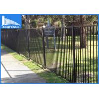 Powder Coated Galvanized Fence Panels , Garrison Security Spear Top Fence Panels With Dupont