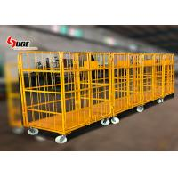 Buy cheap 1100*800*1700MM size foldable trolley, customized logistics trolley with mute caster from wholesalers