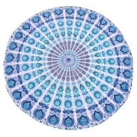 Buy cheap Wholesale Custom Made Round Microfiber Fabric Beach Towels Yoga Mat Picnic Mat With Tassels from wholesalers