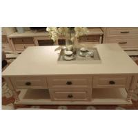 Buy cheap White Color 1.3m European Style Coffee Table With Melamine Four Drawers from wholesalers