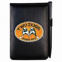Buy cheap Promotional Oxford Jotter Pad with Leather-like Cover, Customized Logos are Accepted from wholesalers